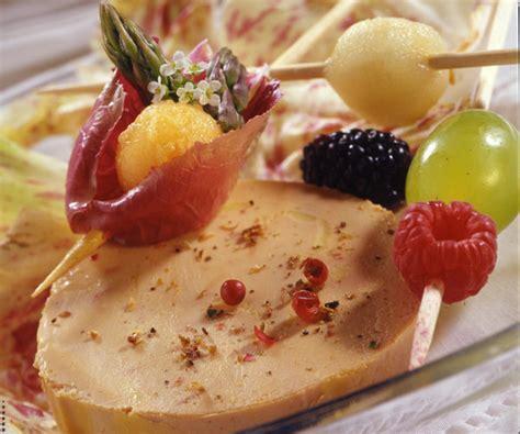 centre de table de cuisine recette foie gras brochettes de fruits