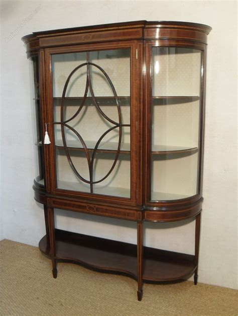 vintage display cabinets edwardian display cabinet antiques atlas 3189