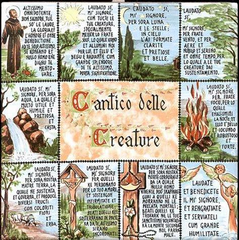 cantico delle creature testo italiano per bambini cantico delle creature basilica parrocchia santa teresa