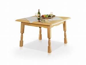 BERND Tisch Fichte 120x120 Fichte Massiv Esstisch