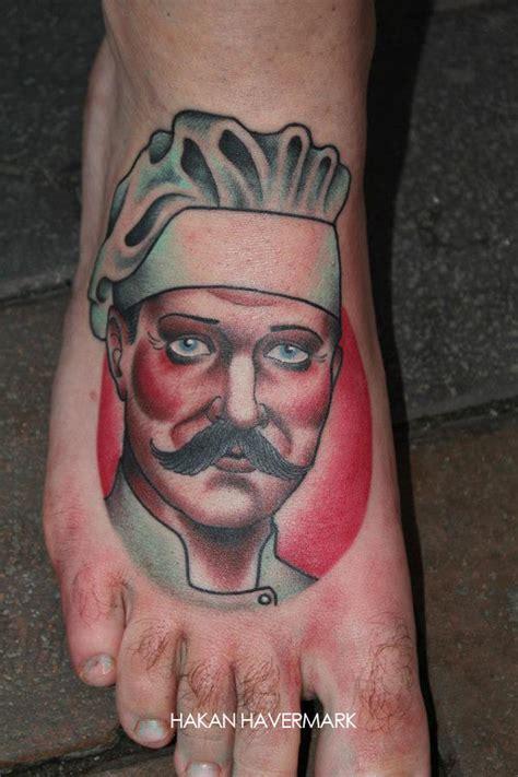 tatouage cuisine tatouage d un cuisinier sur le pied inkage