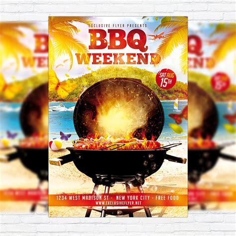 bbq weekend premium flyer template facebook cover