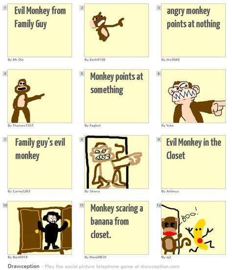Family Monkey In The Closet by Evil Monkey From Family Drawception