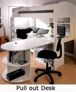 black loft bed with desk foter With loft bed with sofa and desk