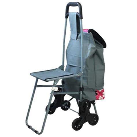 siege chariot chariot de courses 32l 6 roues avec siège intégré