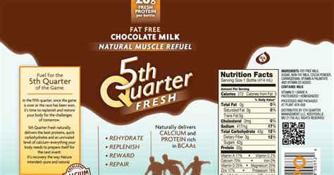 Health benefits of Fifth Quarter Fresh chocolate milk ...