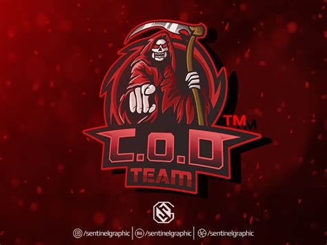 esport logo grim reaper mascot logo sport  teng