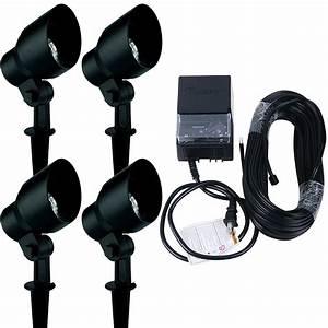 Landscape lighting kit malibu pack watt floodlight