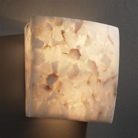 alabaster rocks square ada wall sconce modern wall sconces by lightology