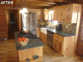 diy network s 39 sweat equity 39 log home kitchen remodel the log home neighborhood
