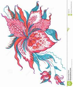 Flowers Pattern Sketch Stock Images - Image: 12987704