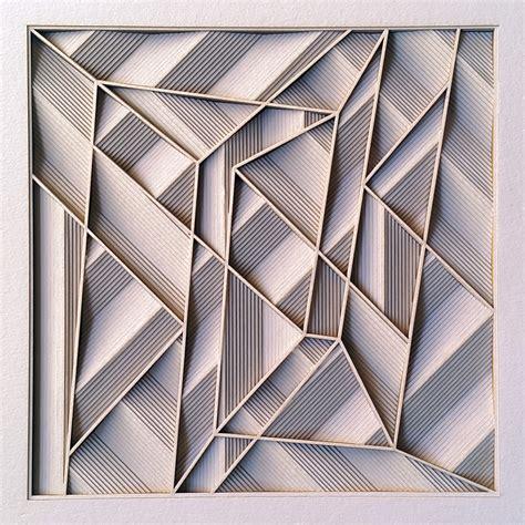 construction  paper cut relief sculpture  artist
