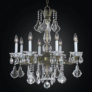 Light chandelier metal and crystal
