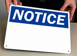 Blank Notice Sign | Write-On | Top Quality, SKU: S-0284 ...