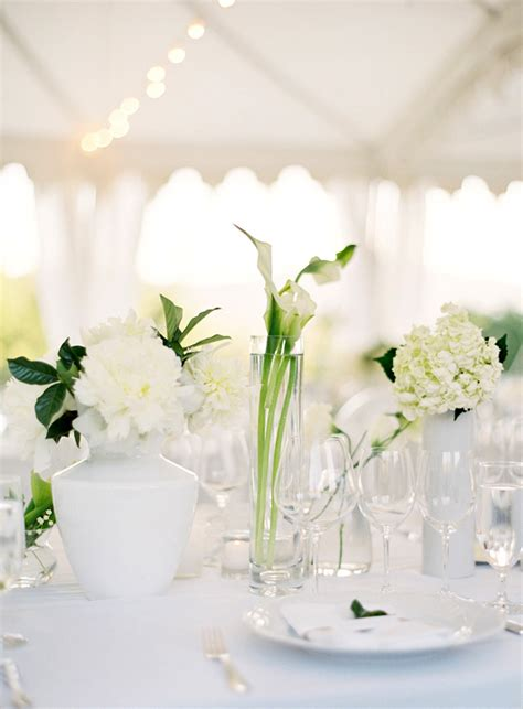 flower table decorations for weddings napa wedding table centerpiece white flowers 1 once wed