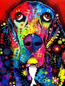 Rainbow Beagle Dog pop art color | COLORS | Pinterest