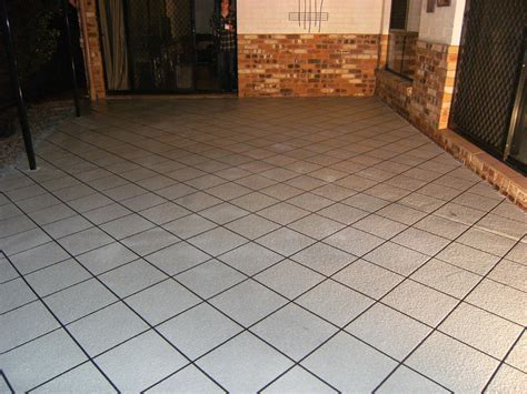 crackes repaired and plain bluestone spayed 5 years ago