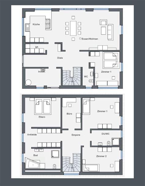 Moderne Häuser Und Grundrisse by Grundriss Stadtvilla Modern Grundrisse