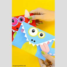 Printable Monster Envelopes  Easy Peasy And Fun