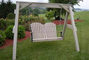 Polywood Adirondack Glider Chair by Amish Outdoor Porch Swings From Dutchcrafters Amish Furniture