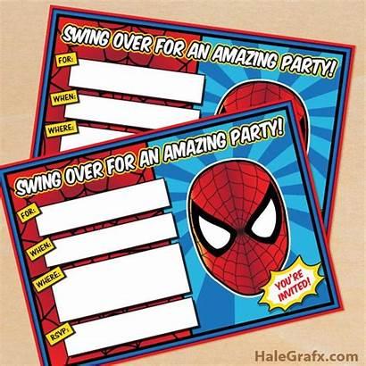 Spiderman Birthday Printable Spider Party Printables Invitations