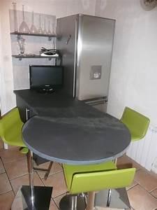 Table Plan De Travail Cuisine : minardoises plan de travail avec arrondi total ~ Melissatoandfro.com Idées de Décoration