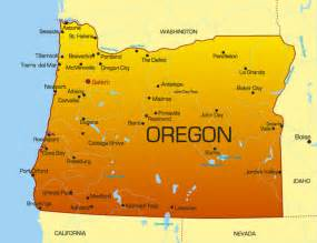 Oregon State Map with Cities