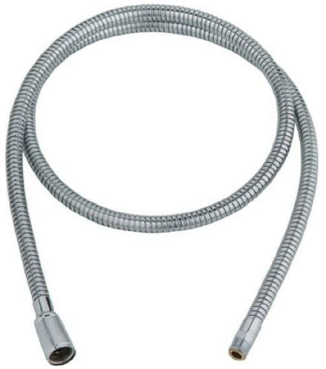 grohe pull  spray replacement hose kitchen sink flexible faucet chrome  ebay