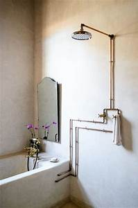 industrial eye candy 40 pipes home decor ideas digsdigs With exposed bathroom plumbing