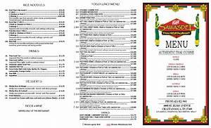 Sawasdee Thai Restaurant Menu, Menu for Sawasdee Thai