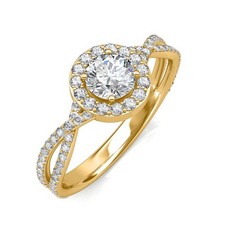 0 95 carat 18k yellow gold zara engagement ring engagement rings at best prices in india