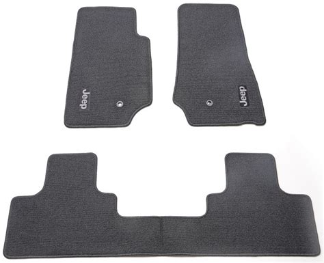 jeep jk floor mats mopar mopar 82209495ac mopar 174 carpet floor mats in slate gray