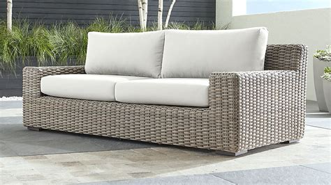 caymen outdoor sofa  white sunbrella cushions