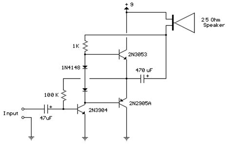 Improved Transistor Audio Amp Milliwatt Circuit