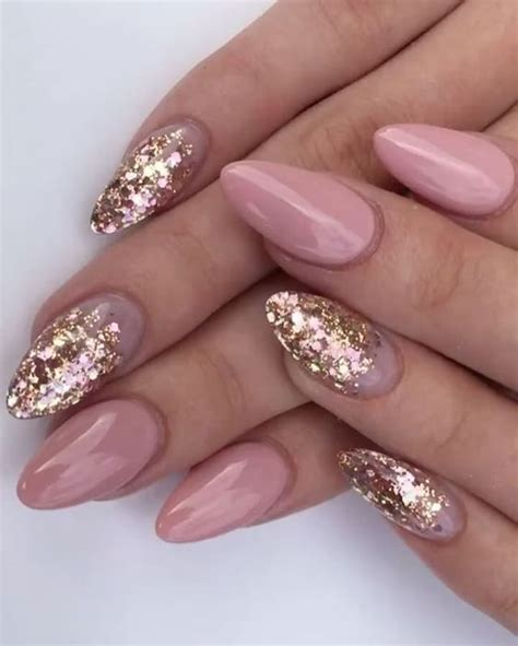 sparkle pink  nails pictures   images