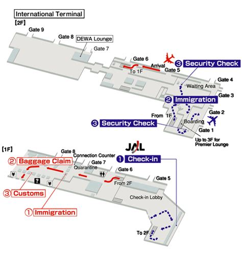 terminals layout  airlines jal  denpasar ngurah rai