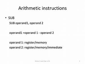 Assembly Language Lecture 4