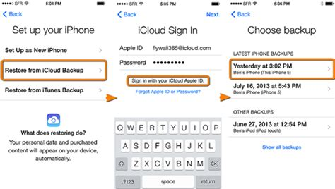 how do i backup my iphone to icloud restore apps from icloud to iphone
