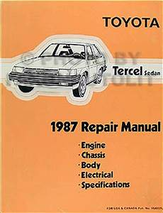 1986 Toyota Tercel Service Repair Shop Set Oem Service And The Electrical Wiring Diagrams