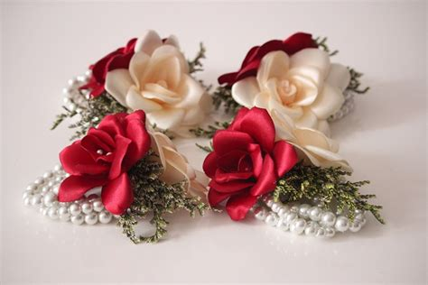 pulsera damas de honor perlas   flores amore colombia