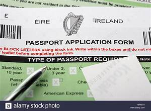 irish passport application form stock photo royalty free With documents irish passport