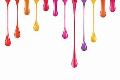 Paint Vector Drips Nail Polish Illustration Drip