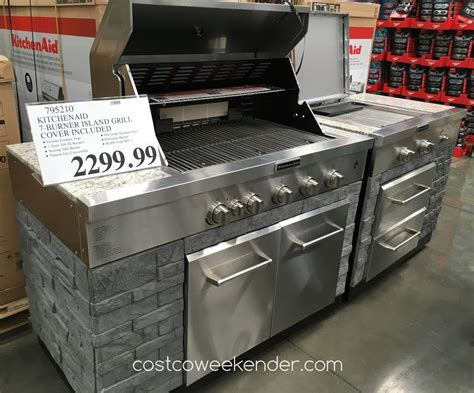Kitchenaid Island Grill by Kitchenaid Seven Burner Outdoor Island Gas Grill Model