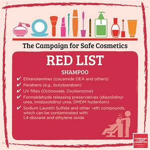red list safe cosmetics With cosmetics ingredients list