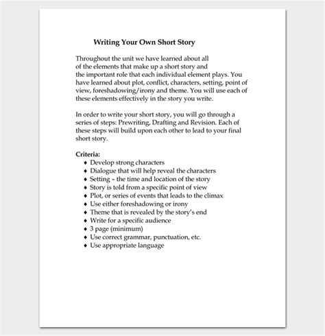 Short Story Outline Template  7+ Worksheets For Word, Pdf Format