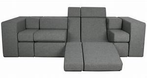 Canapé Convertible Moderne : 37 mod les du canap convertible en gris ~ Teatrodelosmanantiales.com Idées de Décoration