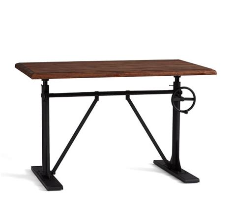 crank standing desk pittsburgh crank sit stand desk pottery barn