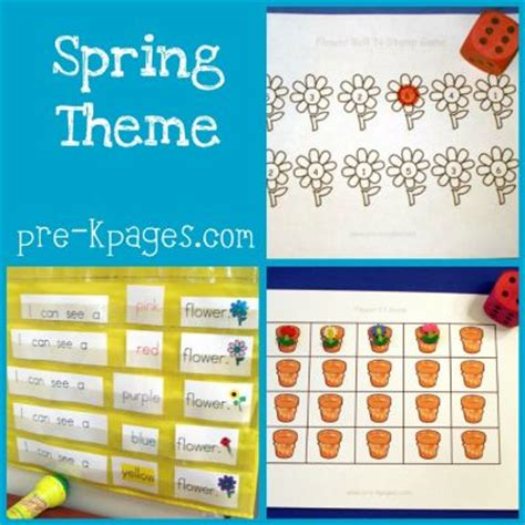 theme activities in preschool pre k pages 119 | spring collage