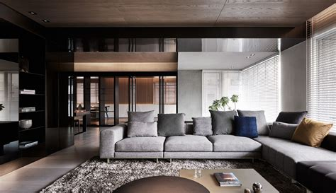 Sophisticated Gray Interior by Black Acrylic Glass And Form This And