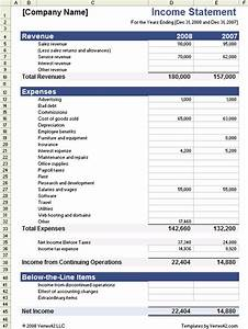 income statement template for excel With restaurant income statement template excel